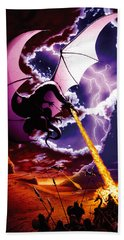 Dragon Attack Hand Towel by The Dragon Chronicles - Steve Re