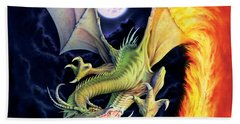 Dragon Fire Hand Towel by The Dragon Chronicles