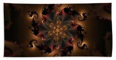 Dragon Flower Bath Towel by GJ Blackman