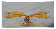 Dragon Fly Hanging Around Bath Towel