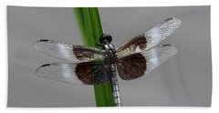Hand Towel featuring the photograph Dragon Fly by Jerry Battle