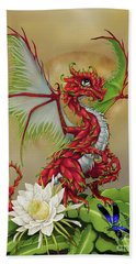 Hand Towel featuring the digital art Dragon Fruit Dragon by Stanley Morrison