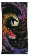 Hand Towel featuring the painting Dragon Galaxy by Stanley Morrison