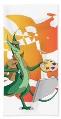 Dragon Painter Hand Towel