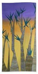 Dragon Trees Bath Towel by Tamara Savchenko