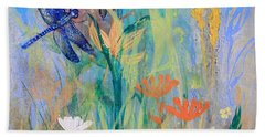 Dragonflies In Wild Garden Bath Towel
