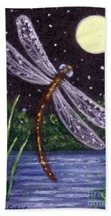 Dragonfly Dreaming Hand Towel by Sandra Estes