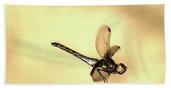 Dragonfly Flying Hand Towel by Odon Czintos