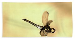 Dragonfly Flying Bath Towel by Odon Czintos