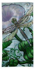 Dragonfly In Sun Bath Towel