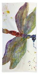 Bath Towel featuring the painting Dragonfly by Lucia Grilletto