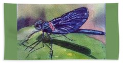 Dragonfly With Shadow Hand Towel