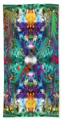 Dragons Of The Temple Bath Towel