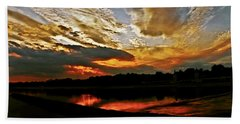 Drama In The Sky At The Sunset Hour Hand Towel by Carol F Austin