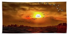Drama In The Sky Hand Towel