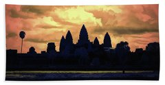 Dramatic Angkor Wat  Bath Towel