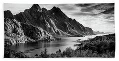 Dramatic Lofoten Hand Towel by Alex Conu
