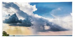 Bath Towel featuring the photograph Dramatic Sunrays Over The Valley by Shelby Young