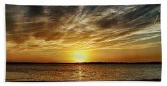 Dramatic Sunset Hand Towel by Doug Long
