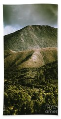 Dramatic View On Mount Zeehan Against Stormy Cloud Hand Towel