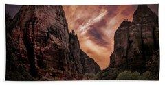 Dramatic Zion National Park Utah  Bath Towel