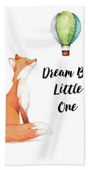 Hand Towel featuring the digital art Dream Big Little One by Colleen Taylor