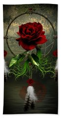 Dream Catcher Rose Hand Towel