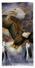 Dream Catcher - Spirit Eagle Bath Towel