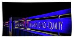 Dream-hope-change-equality Martin Lurther Kin Bridge - Fort Wayne Indiana Hand Towel