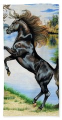 Dream Horse Series 3015 Bath Towel by Cheryl Poland