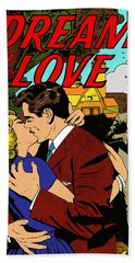 Bath Towel featuring the digital art Dream Of Love 2 Comic Book by Joy McKenzie