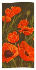 Hand Towel featuring the painting Dream Of Poppies by Anastasiya Malakhova