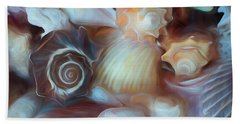 Hand Towel featuring the mixed media Dream Of Seashells by Lynda Lehmann