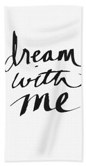 Dream With Me- Art By Linda Woods Hand Towel