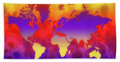 Dream World Map Bath Towel