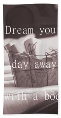 Dream Your Day Away With A Book In A Victorian Bed Hand Towel