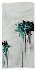 Bath Towel featuring the painting Dreamers by Carmen Guedez