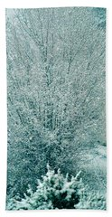 Bath Towel featuring the photograph Dreaming Of A White Christmas - Winter In Switzerland by Susanne Van Hulst