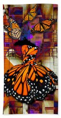 Bath Towel featuring the mixed media Dreaming Of Flying High by Marvin Blaine