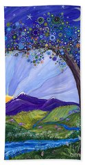 Dreaming Tree Bath Towel by Tanielle Childers