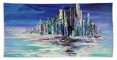 Hand Towel featuring the painting Dreamland Isle by Tatiana Iliina
