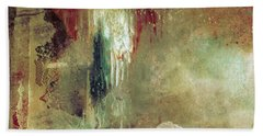 Dreams Come True - Earth Tone Art - Contemporary Pastel Color Abstract Painting Bath Towel