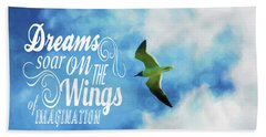 Dreams On Wings Bath Towel