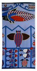 Dreamtime Hand Towel by Stephanie Moore