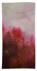 Hand Towel featuring the digital art Dreamy Autumn Forest by Klara Acel