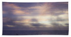 Dreamy Blue Atlantic Sunrise Bath Towel