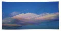 Dreamy Clouds Hand Towel by Karen Slagle
