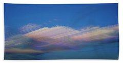 Dreamy Clouds Bath Towel by Karen Slagle