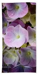 Hand Towel featuring the photograph Dreamy Hydrangea by Mimulux patricia no No