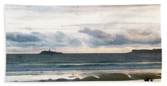 Hand Towel featuring the digital art Dreamy Seascape by Andrea Barbieri